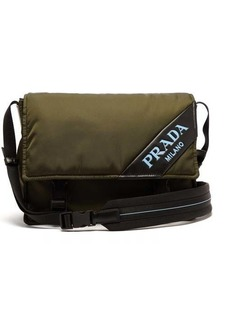 Prada Logo nylon messenger bag