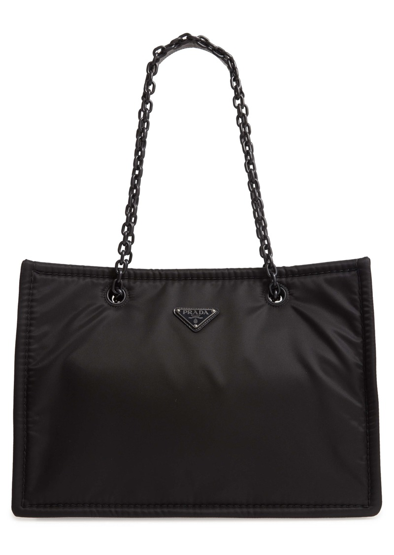 Prada Logo Nylon Shoulder Bag