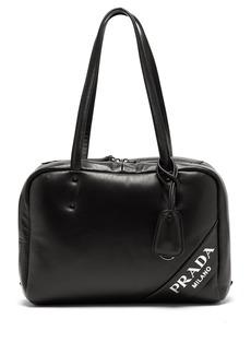 Prada Logo padded leather shoulder bag