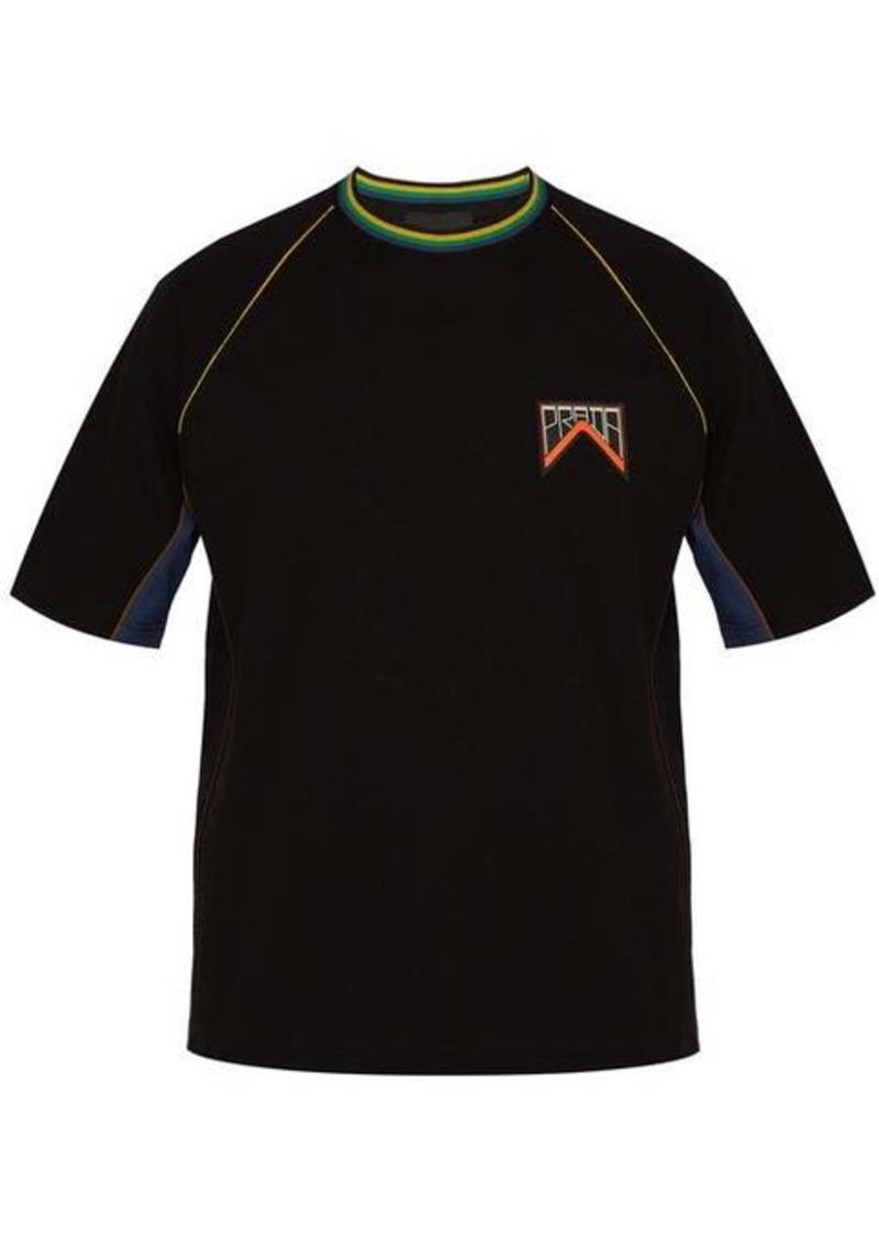 Prada Logo patch cotton-piqué T-shirt