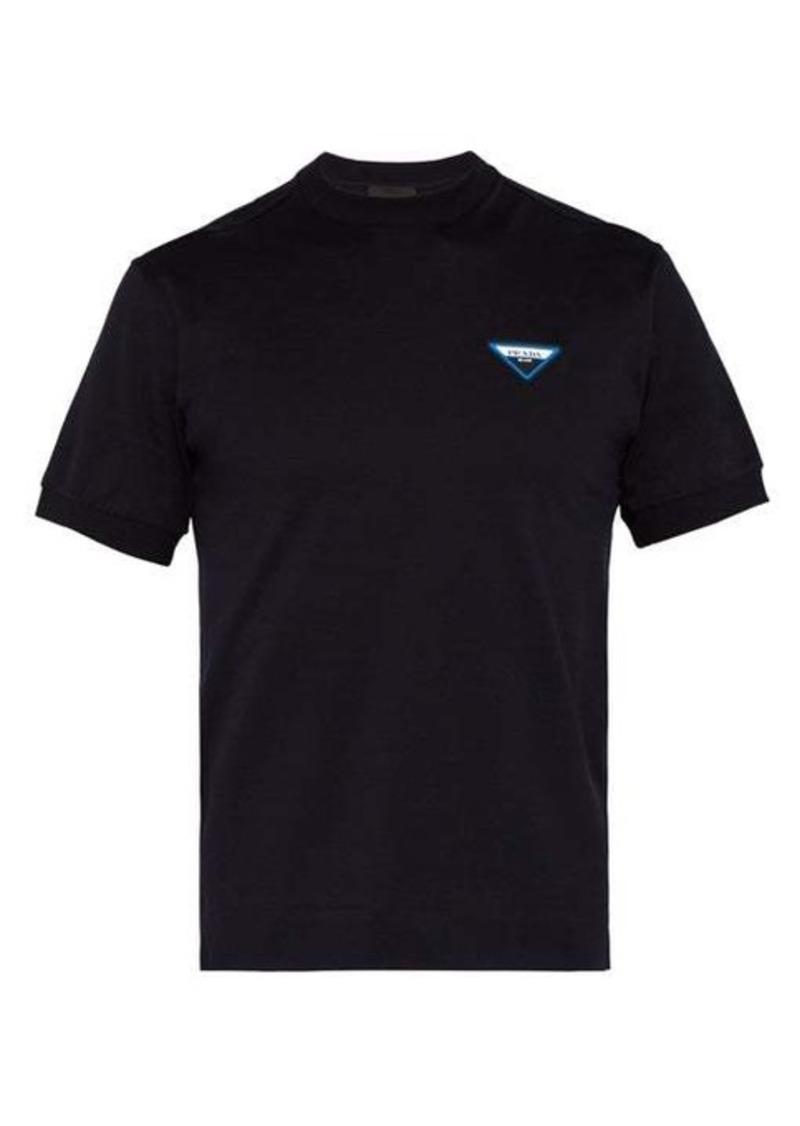 Prada Logo-patch cotton T-shirt