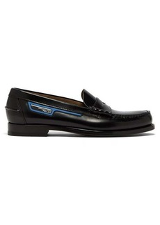 Prada Logo-patch leather loafers