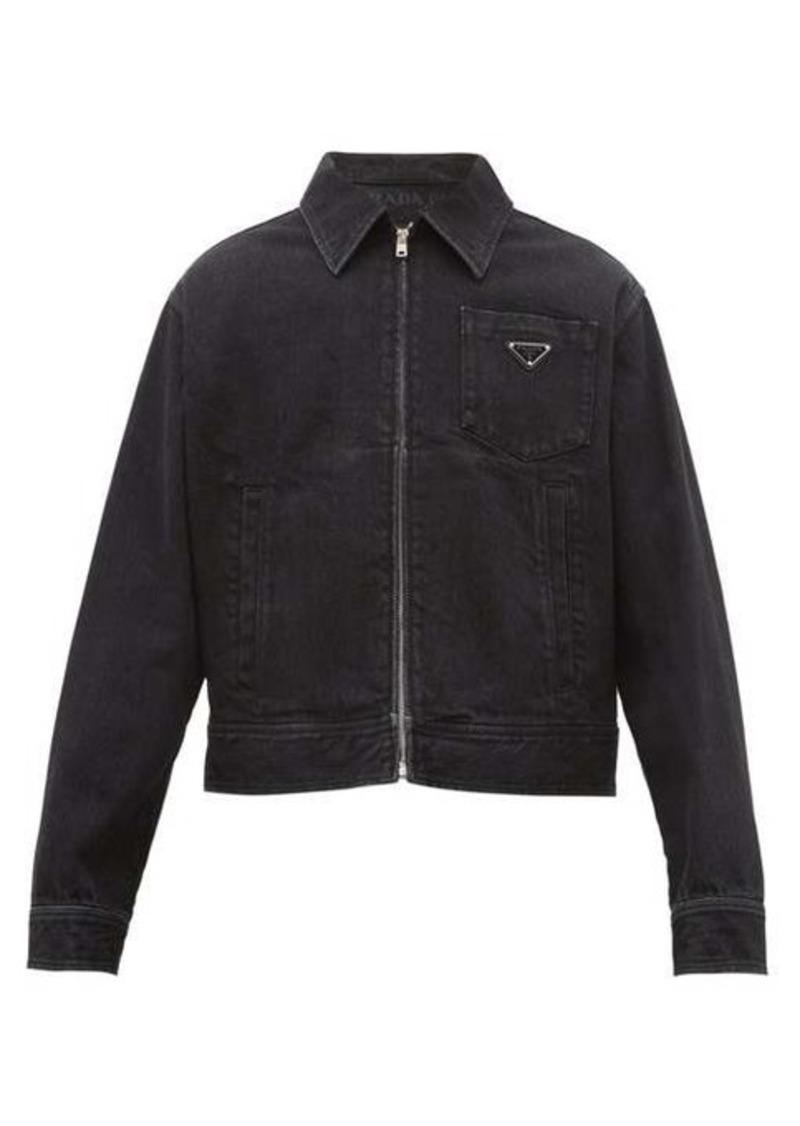 Prada Logo-plaque cotton-denim jacket