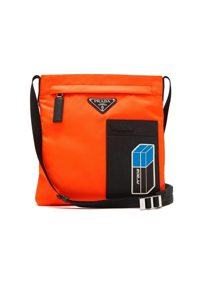 9757dd33c2d6 Prada Prada Logo-plaque nylon cross-body bag | Bags