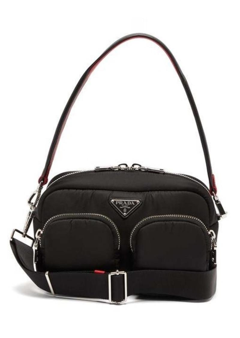 Prada Logo-plaque nylon shoulder bag