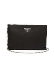 Prada Logo-plaque padded clutch