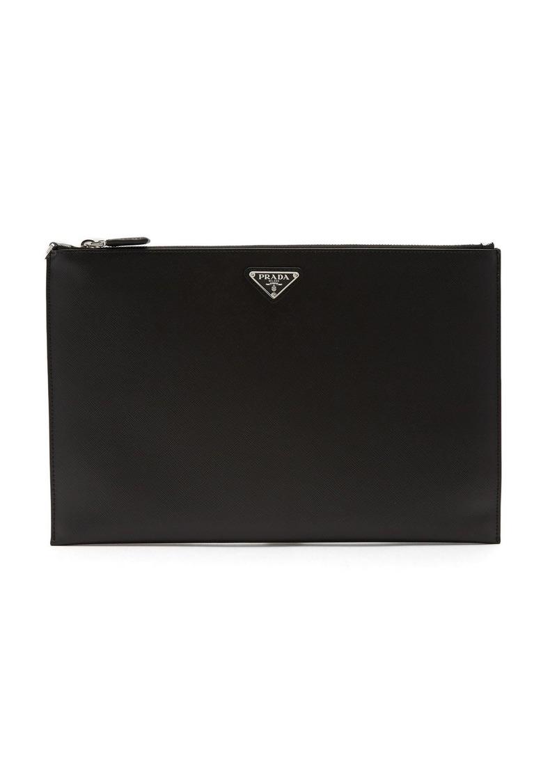 1c97838de724 On Sale today! Prada Prada Logo-plaque saffiano-leather pouch