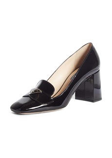 Prada Logo Plaque Square Toe Loafer Pump (Women)