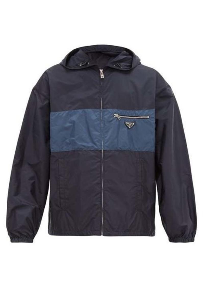 Prada Logo-plaque technical jacket