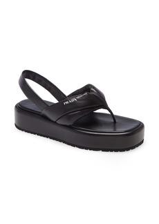 Prada Logo Platform Slingback Sandal (Women)