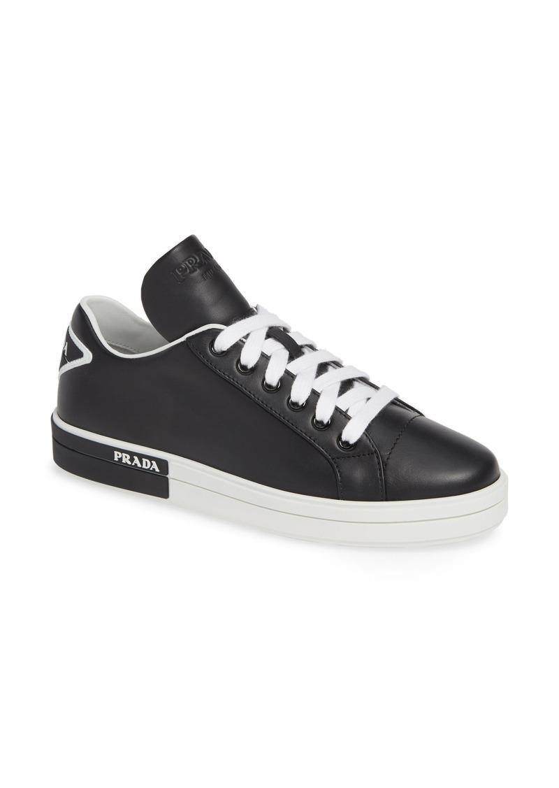 Prada Logo Platform Sneaker (Women)