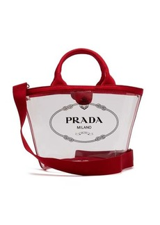 Prada Logo-print clear PVC tote