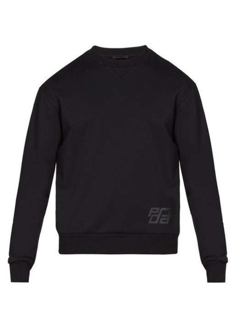 Prada Logo-print cotton sweatshirt