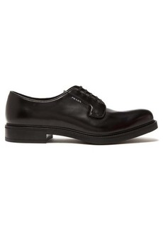 Prada Logo-print leather derby shoes