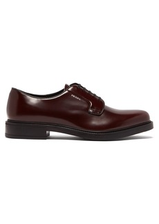 Prada Logo-print leather derby shoes