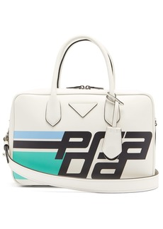 Prada Logo-print leather shoulder bag