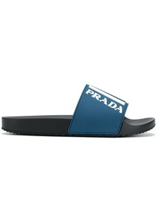 Prada Graphic logo pool slides
