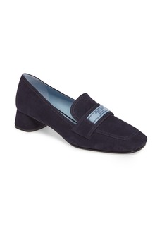 Prada Logo Strap Loafer Pump (Women)