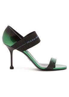 Prada Logo-strap patent-leather sandals