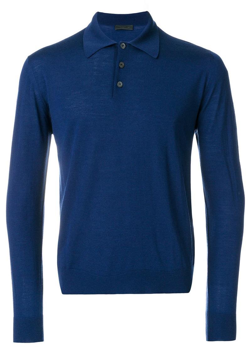 9719f5f1 Prada Prada long sleeve polo shirt - Blue   Casual Shirts