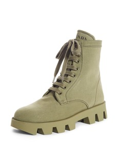 Prada Lugged Combat Boot (Women)