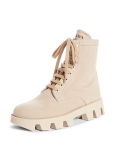 Prada Lugged Combat Boot (Women)