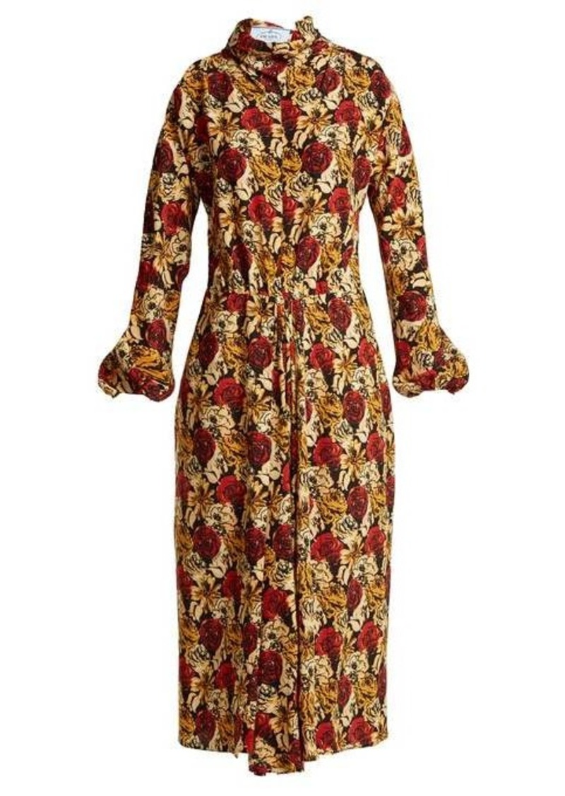 Prada Marocaine floral-print silk dress