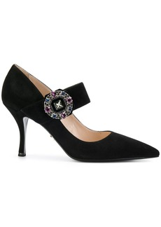 Prada Mary Jane brooch pumps - Black