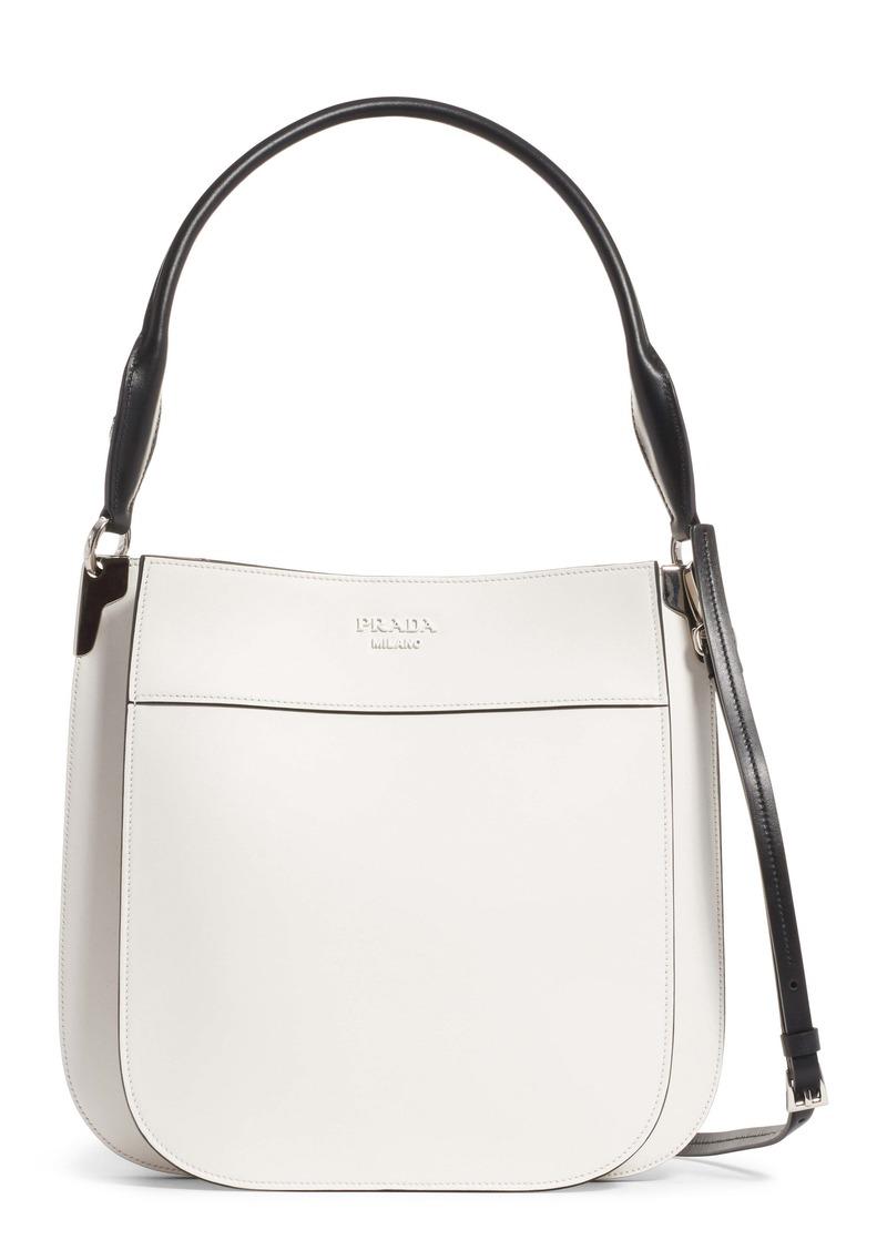 Prada Medium City Leather Hobo Bag