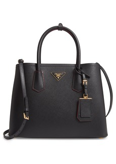 Prada Medium Saffiano Leather Double Tote