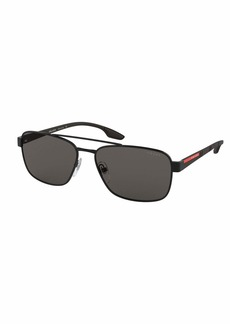 Prada Men's 59mm Square Metal Aviator Sunglasses