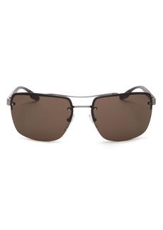Prada Men's Brow Bar Square Sunglasses, 62mm