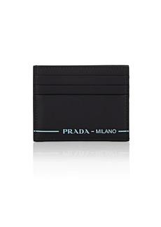 Prada Men's City Sport Leather Card Case - Nero