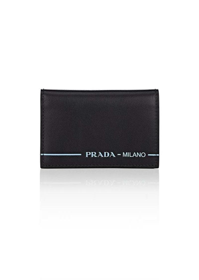 huge discount 17742 e6638 Men's City Sport Leather Folding Card Case - Nero