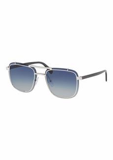 Prada Men's Double-Bridge Square Gradient Sunglasses