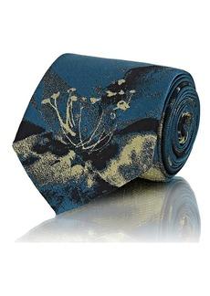 Prada Men's Floral-Print Faille Necktie