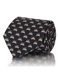 Prada Men's Frog-Print Silk Twill Necktie