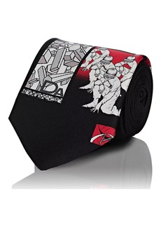 Prada Men's Graphic-Print Silk Necktie