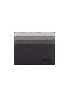 Prada Men's Leather Card Case - Black