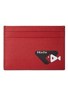 Prada Men's Leather Card Case - Red