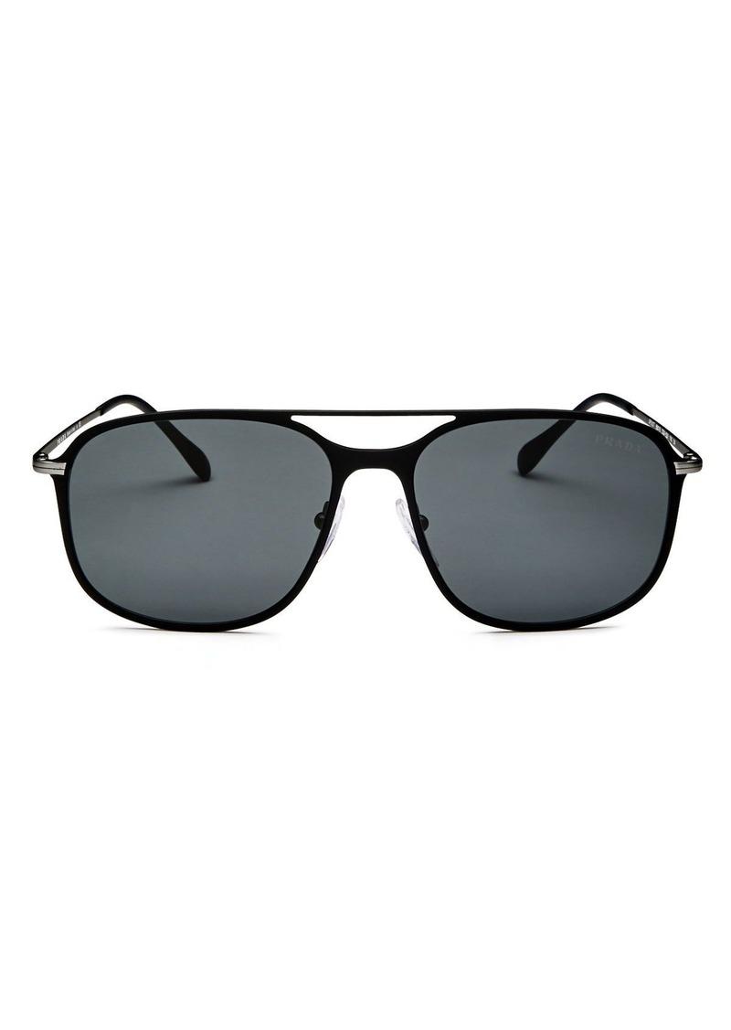 Prada Men's Linea Rossa Evolution Brow Bar Square Sunglasses, 59mm