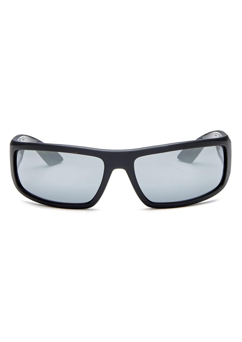 Prada Men's Linea Rossa Mirrored Wrap Sunglasses, 65mm