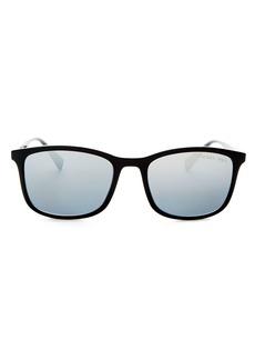 Prada Men's Linea Rossa Polarized Brow Bar Aviator Sunglasses, 56mm