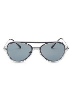 Prada Men's Linea Rossa Spectrum Brow Bar Aviator Sunglasses, 57mm