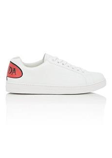 Prada Men's Logo-Appliqué Leather Sneakers