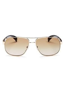 Prada Men's Pilot Aviator Sunglasses, 61mm