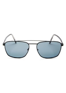 Prada Men's Polarized Brow Bar Square Sunglasses, 59mm