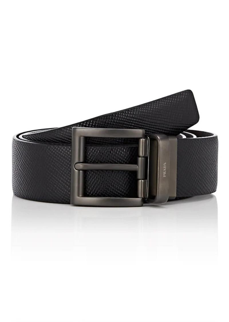 751284bf4f779 Prada Prada Men's Reversible Leather Belt   Belts