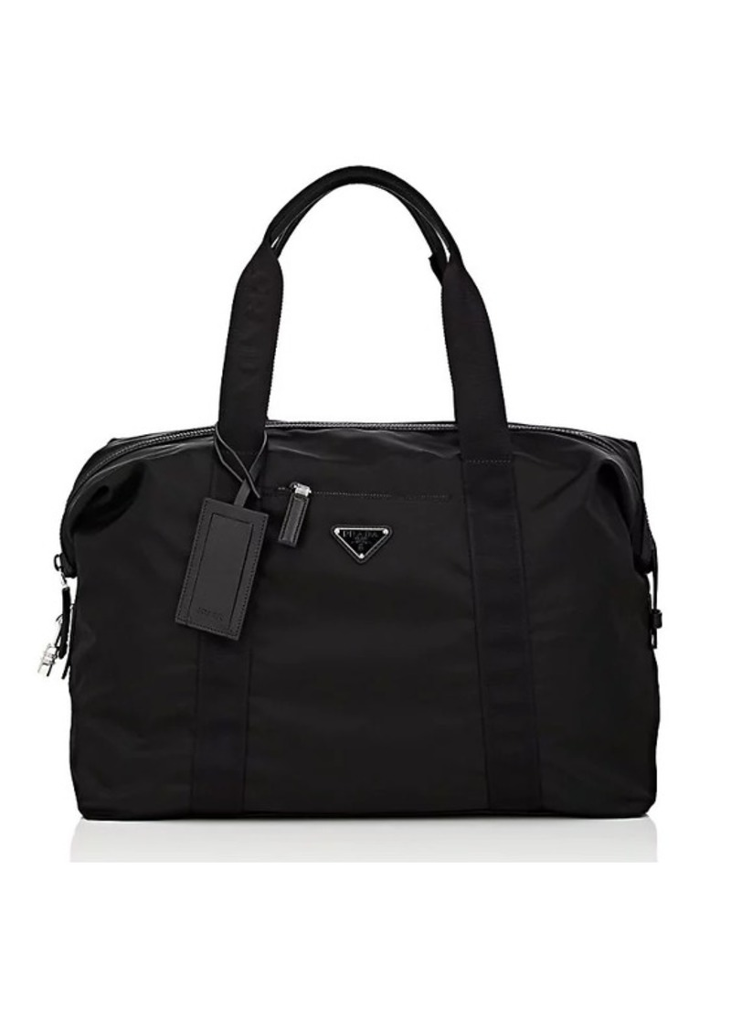 45aaa8a4f3 Prada Prada Men s Small Leather-Trimmed Duffel Bag - Black