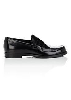 Prada Men's Spazzolato Leather Penny Loafers